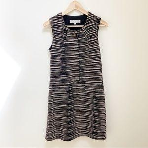 Trina Turk striped black tan pattern dress sz 2